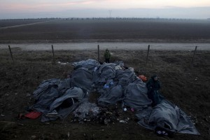 Refugees at Idomeni, Greece (Alexandros Avramidis:Reuters) Feb 1 2016
