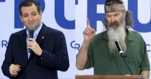 Ted Cruz and Duck Dynasty guy
