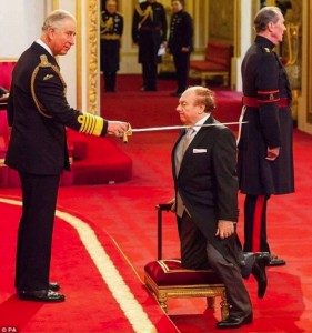 Van the Man getting knighted second time