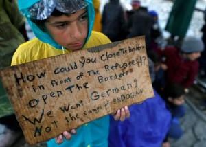 Child protester at Idomeni (AP Photo:Darko Vojinovic) Mar 24 2016