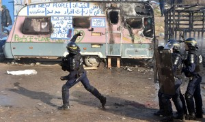 Riot police at Calais ( Philippe Huguen:AFP:Getty Images) Feb 29 2016