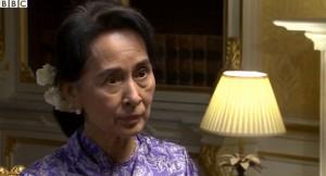 Suu Kyi at Husain interview