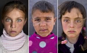 Syrian refugee children at an informal tent settlement in Jordan Muhammed Muheisen:AP