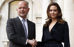 William Hague and Angelina Jolie (Getty)