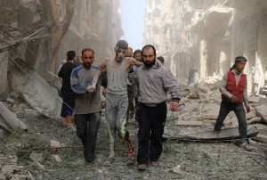 Aleppo, Syria bombing (Ameer Alhalbi:AFP:Getty Images) Apr 27 2016