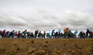 Bolivian wheelchair protest ((AP Photo:Juan Karita) ) Apr 21 2016