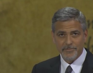 Clooney from Channel 4 News video
