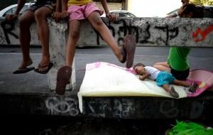 Homeless in Manila (Noel Celis:AFP:Getty Images) Apr 6 2016