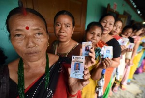 Indian voters in line ( Biju Boro:AFP:Getty Images) Apr 4 2016