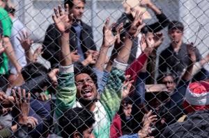 Moria protest (Milos Bicanski:Getty Images) Apr 6 2016