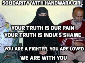 Handwara girl solidarity meme (Ather Zia)