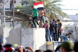 Iraqi protesters storm Green Zone in Baghdad ( REUTERS:Khalid al Mousily ) May 22 2016