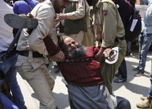 Kashmiri disability protester (May 11 2016