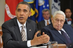 Obama with Kissinger in 2010 (Mandel Ngan:AFP:Getty Images) May 11 2016