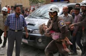 Bombing in Idlib, Syria ( REUTERS:Ammar Abdullah) June 16 2016