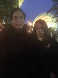 Elena and her husband at Orlando