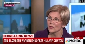 Elizabeth Warren endorse Clinton