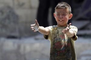 Grieving boy in Idlib, Syria (REUTERS:Khalil Ashawi) June 3 2016
