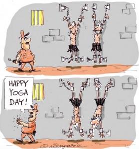 Happy yoga day (from FB wall of Hemant Morparia via Syed Amir Abbas Rizvi) June 21 2016