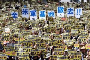 Okinawa antiwar protest (Kyodo:via Reuters) June 20 2016