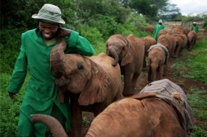 Orphan elelphant and caretaker ((Photo by Michael Nichols:National Geographic) June 20 2016