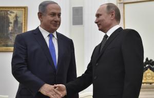 Putin and Netanyahu: EPA:ALEXANDER NEMENOV:POOL