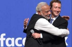 Modi and Zuckerberg