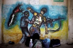 Rafah crossing mural (Photo- Ibraheem Abu Mustafa:REUTERS) July 1 2016