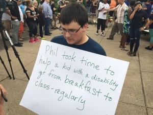 Rally at school of Philando Castile