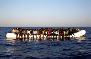 African refugees off Libya (REUTERS:Giorgos Moutafis) Aug 27 2016