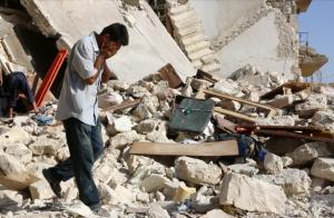 Aleppo on July 19, 2016. (AFP)