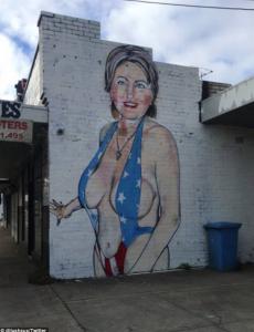 Clinton as stripper