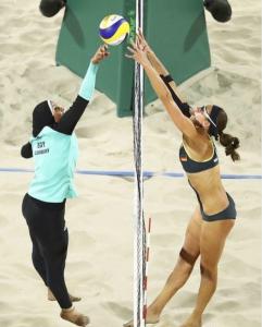Egypt vs Germany beach volleyball at Rio (Aug 16 2016)