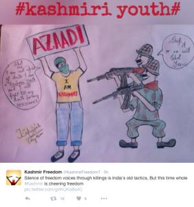 Kashmir Freedom tweet Aug 3 2016