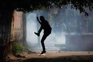 Lone Kashmiri protester  (AP Photo:Dar Yasin) August 10 2016