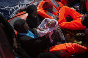 Nigerian women refugees off Libya (Emilio Morenatti:AP) Aug 29 2016