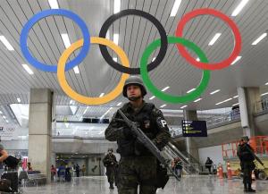 Olympic security (Sean Kilpatrick:The Canadian Press via AP) Aug 4 2016