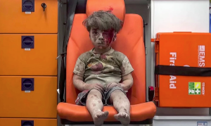 Omran Daqneesh, 5 yrs old (Aleppo Media Center) Aug 19 2016