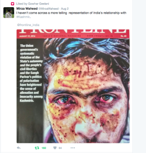 Twitter post from Frontline mag --Aug 4 2016