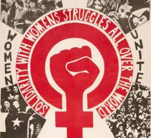 Women's liberation fist symbol
