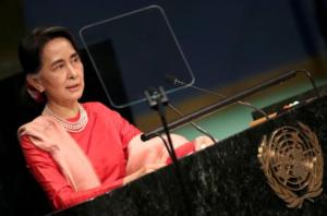 Aung San Suu Kyi at UNGA (9:1:2-15) Reuters:Carlo Allegri)
