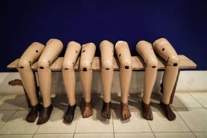 Leg protheses in Laos (Mast Irham:EPA) Sept 6 2016