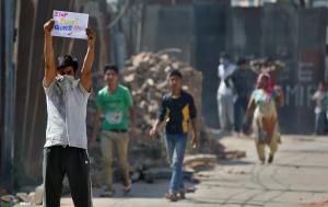 No pellet gun protest Kashmir (Danish Ismail:Reuters) Set 13 2016