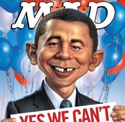 Obama caricature as Mad Magazine