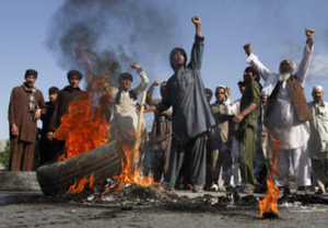 Afghans protesting US Oct 8 2016