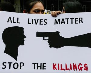 All Lives Matter protest, Manila (Mark R. Cristino:EPA) Oct 3 2016