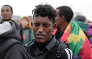 Ethiopian 16 year old at Jungle evacuation (AP Photo:Emilio Morenatti) Oct 26 2016