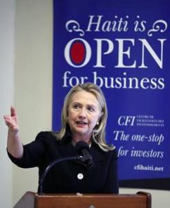 Hait and Hillary Clinton