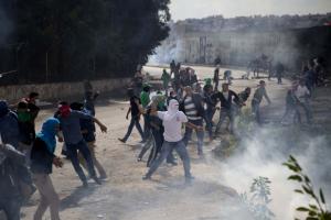 Palestinian Intifada at Al Quds University, West Bank (Oct 9 2016)