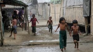 Rohingya internment camp (NYUNT WIN : EPA) Oct 12 2016